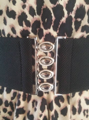 Wide Retro Waspie Belt in Black by Grace Karin