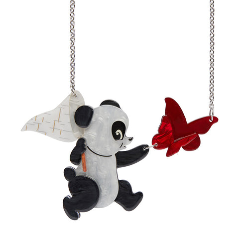 Erstwilder Valentine's 'What a Catch!' Panda Resin Necklace