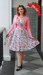 Zooey Dress in Mint Tiki Print by Pinup Couture