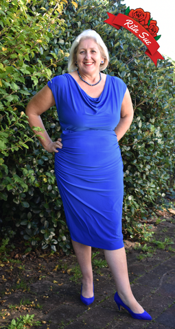 Billie Wiggle Dress in Cobalt by Zoe Vine