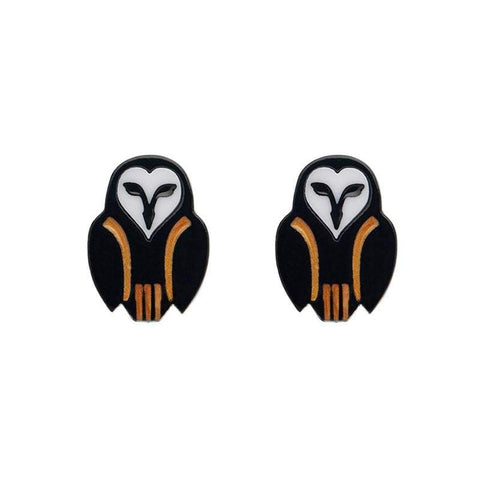 Erstwilder Owl Ornamental Stud Earrings