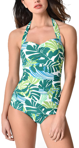 Esther Williams Palmy Days One Piece Swimsuit in Green