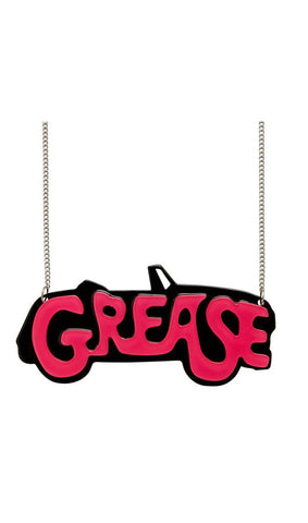 Erstwilder GREASE The Word Resin Necklace