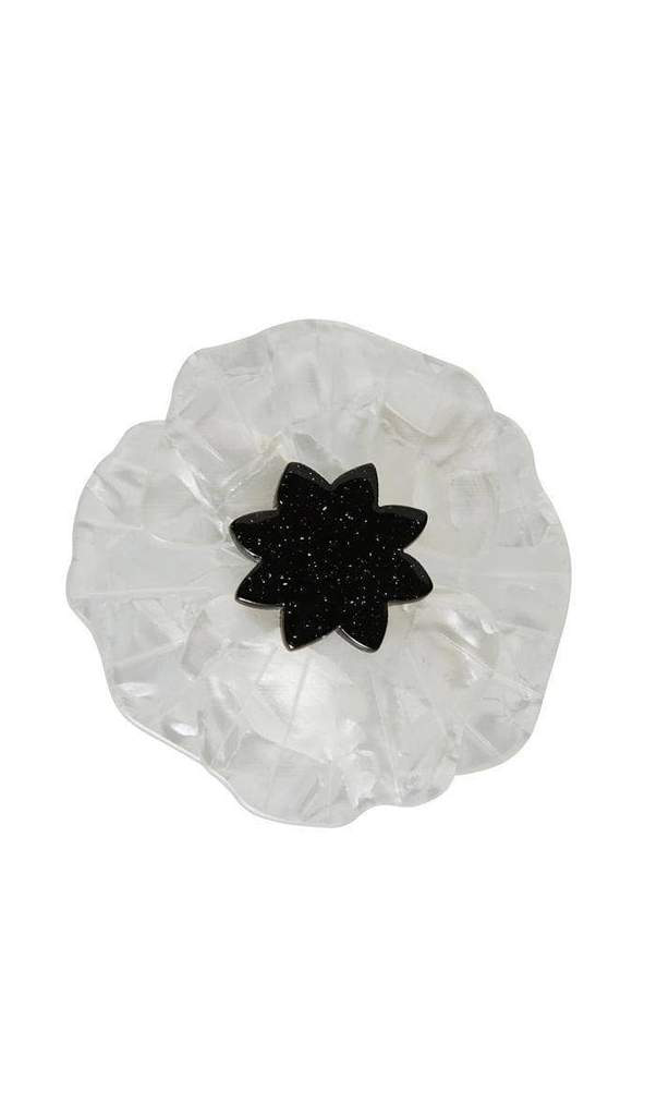 Erstwilder White Poppy Field Resin Brooch