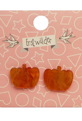 Erstwilder Essential Halloween Pumpkin Ripple Stud Earrings