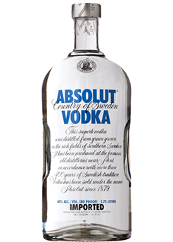 Bottle of Absolut from Checkers Discount Liquors and Wines in Miami, Florida