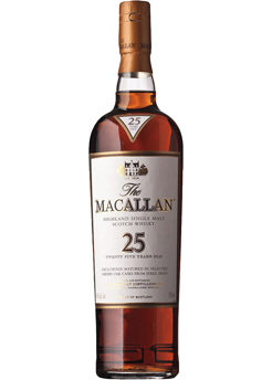 Bottle of Macallan 25 Year from Checkers Discount Liquors and Wines in Miami, Florida