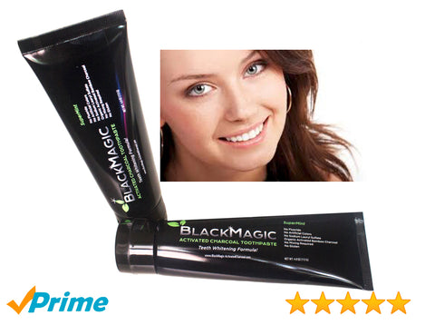 BlackMagic Activated Charcoal Teeth Whitening Toothpaste