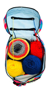 Knitting or Crochet Bag - Yarn Storage Organizer - Single (Multi-Colored)