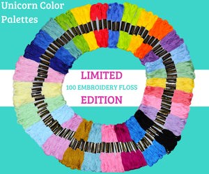Embroidery Thread - Unicorn Theme Color Palettes - 100 Embroidery Floss - Limited Edition