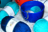 Yarn Bowl for Knitting and Crochet - Handmade with Eco-Friendly Ceramic Material (ROYAL BLUE)