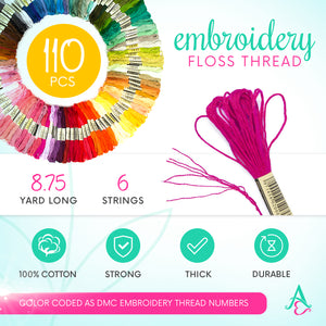 Embroidery Thread - Unicorn and Mermaid Theme Palettes - 100 Embroidery Floss - Limited Edition