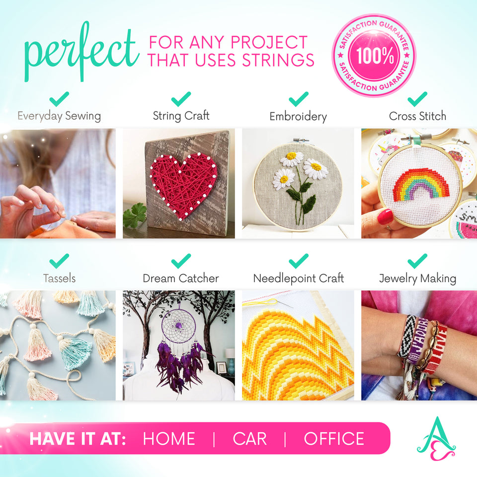 Mermaid DIY Friendship Bracelet Kit - Embroidery Thread and Accessories