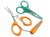 Thread/Yarn Scissors w/ Cover - Serrated & Straight