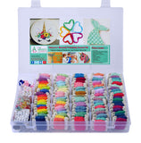 Mermaid and Unicorn DIY Friendship Bracelet String Kit Embroidery Thread and Accessories