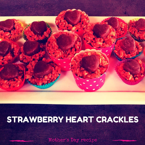 Mother's Day Strawberry Heart Crackles recipe