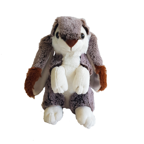 Gorgeous fluffy soft plushie bunny rabbit with raised paws.