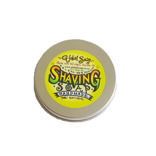 Global Soap Shaving soap, in a tin. Homemade and 100% natural