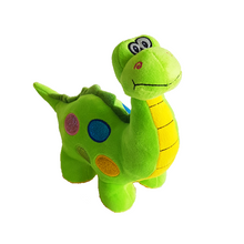 Cheeky smiling green dinosaur soft plushie toy. Very cute for young kids as a gift or present idea