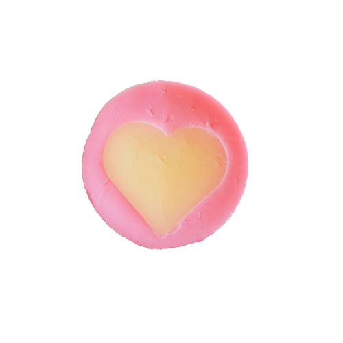 Pink and white heart soap by global soap - great add on gift idea
