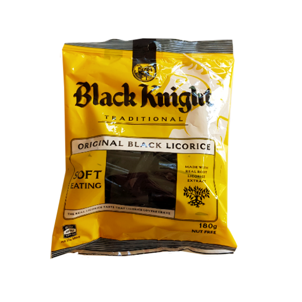 Yellow package of black night licorice