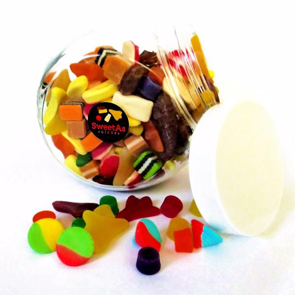 Lolly jar corporate starter kit - classic kiwi lollies and jar
