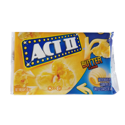 Act butter flavour popcorn - great savoury add on option