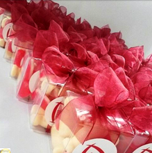 mini corporate lolly gifts - custom sticker with ribbon example
