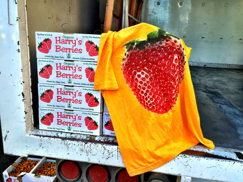 Harry's Berries strawberry shirt Santa Monica Farmers Market October 7th 2015