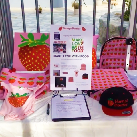 Harry's Berries PANCAN Make Love With Food silent auction donations