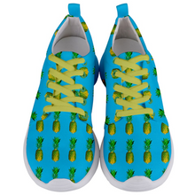 Load image into Gallery viewer, Men's blue pineapple shoes front