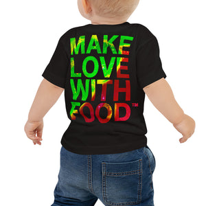 Strawberry Baby Cotton Short Sleeve T Shirt Black Back