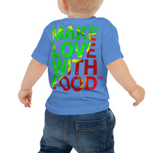 Load image into Gallery viewer, Strawberry Baby Cotton Short Sleeve T Shirt Columbia Blue Back