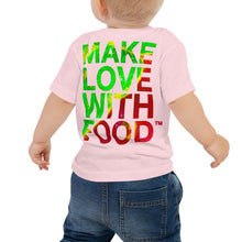 Load image into Gallery viewer, Strawberry Baby Cotton Short Sleeve T Shirt Pink Back