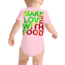 Load image into Gallery viewer, Strawberry Baby Short Sleeve Cotton Onesie Pink Back