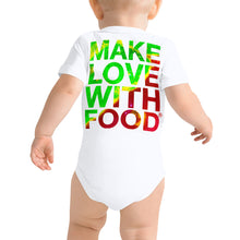 Load image into Gallery viewer, Strawberry Baby Short Sleeve Cotton Onesie White Back