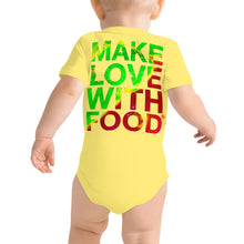 Load image into Gallery viewer, Strawberry Baby Short Sleeve Cotton Onesie Yellow Back