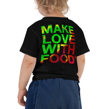 Load image into Gallery viewer, Strawberry Toddler Cotton Short Sleeve T Shirt Black Back