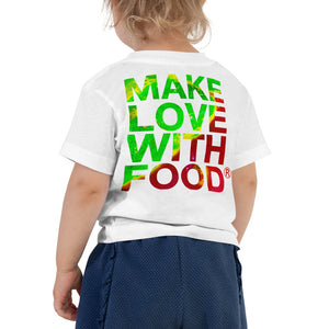 Strawberry Toddler Cotton Short Sleeve T Shirt White Back