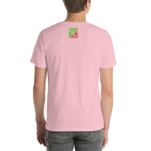 Strawberry Men's Cotton Short Sleeve T Shirt Pink Back