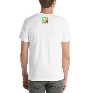 Strawberry Men's Cotton Short Sleeve T Shirt White Back