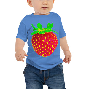 Strawberry Baby Cotton Short Sleeve T Shirt Columbia Blue Front