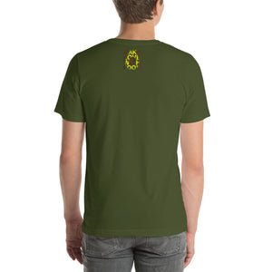 Avocado Men's Cotton Short Sleeve T Shirt Olive Back