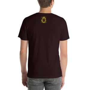 Avocado Men's Cotton Short Sleeve T Shirt Oxblood Black Back