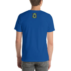 Avocado Men's Cotton Short Sleeve T Shirt True Royal Back