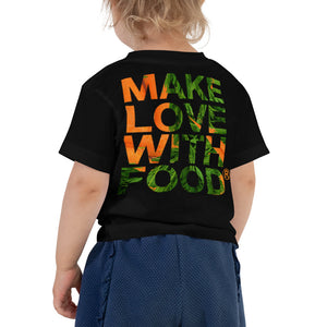 Carrot Heart Toddler Cotton Short Sleeve T Shirt Black Back