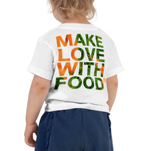 Load image into Gallery viewer, Carrot Heart Toddler Cotton Short Sleeve T Shirt White Back