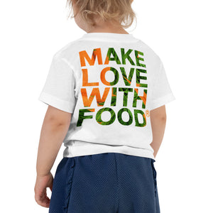 Carrot Heart Toddler Cotton Short Sleeve T Shirt White Back