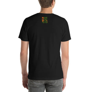 Carrot Heart Men's Cotton Short Sleeve T Shirt Black Back