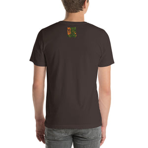 Carrot Heart Men's Cotton Short Sleeve T Shirt Brown Back